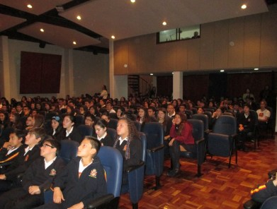 El auditorio en la presentación del presente curso académico.