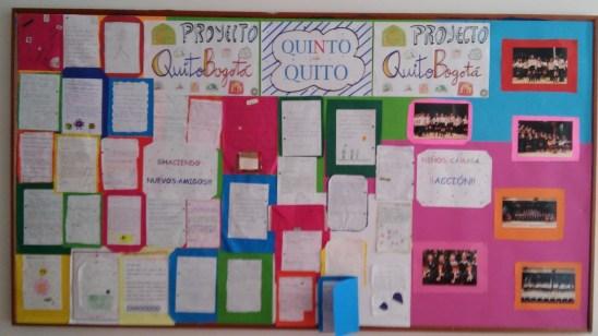 Mural de cartas y proceso musical: quinto de primaria