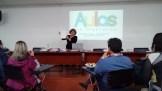 María Andreo coordinadora del Proyecto en nuestro Centro presenta los excelentes materiales elaborados para el Chocó colombiano