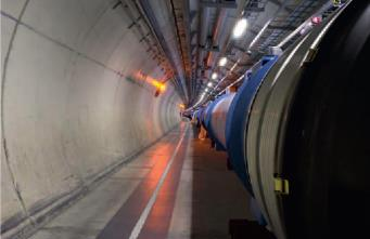 Vista interior de un túnel de comunicación