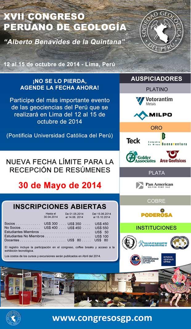 XVII Congreso Peruano de Geología