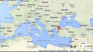 Mapa de mina de turquía