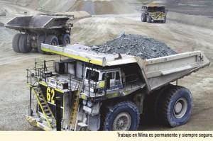 Antapaccay, trabajo en mina con seguridad
