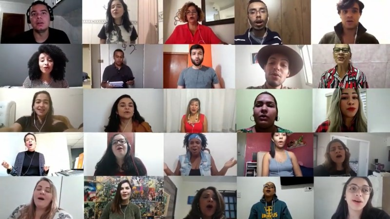 Coral Allianz Partners grava vídeo à distância para espalhar mensagem de esperança / Divulgação