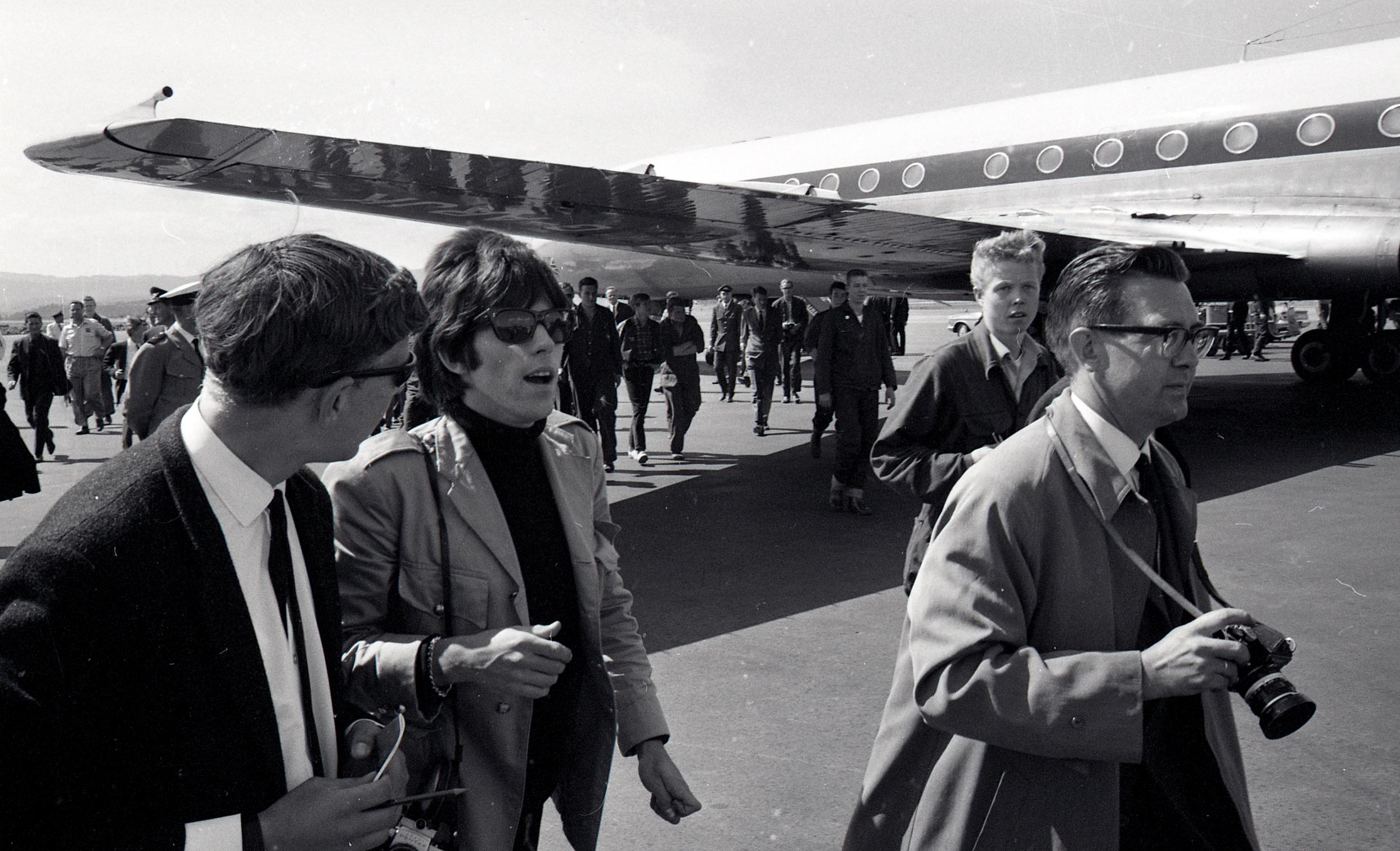Keith Richards aeropuerto 1965