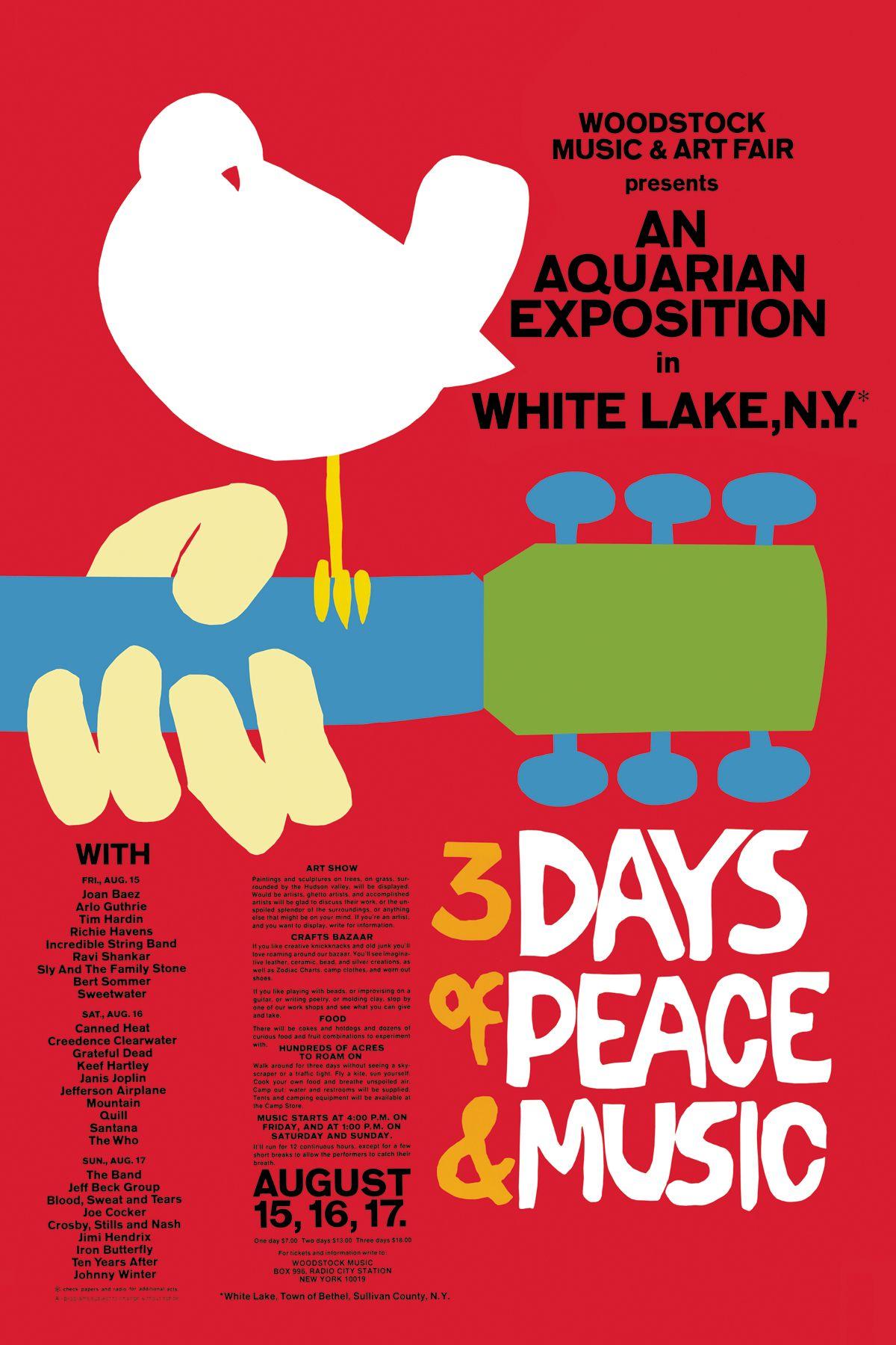 Póster Festival Woodstock 1969