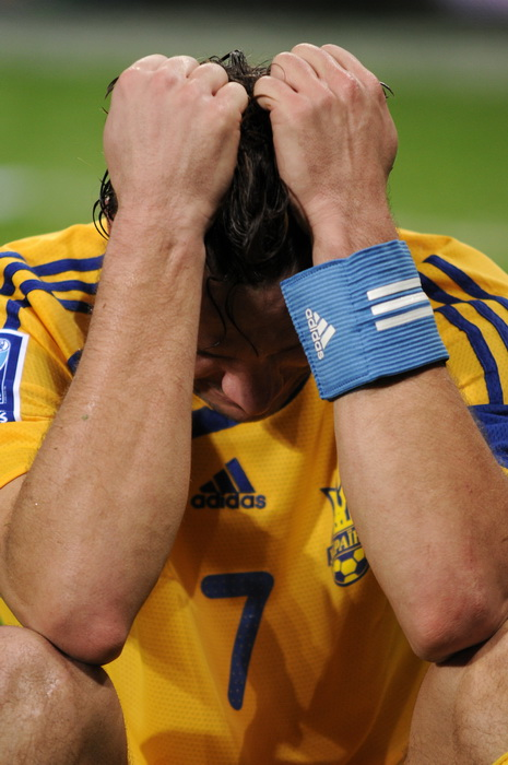 Andriy Shevcheno desolado derrota Grecia
