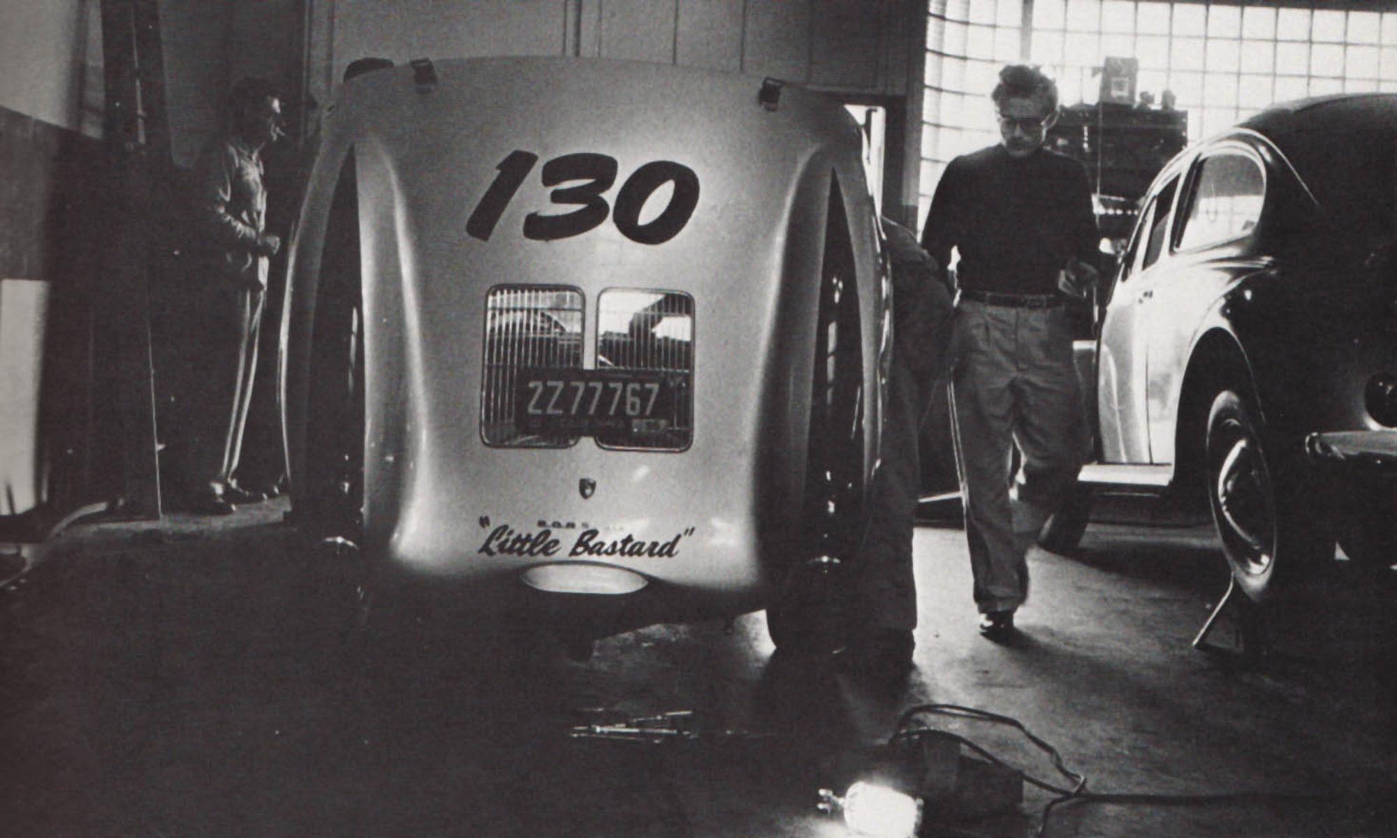 """James Dean taller Porsche 550 Spyder """"Little Bastard"""""""