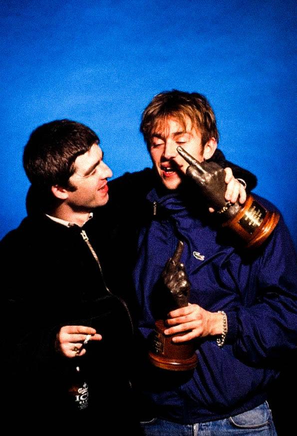 Noel Gallagher Damon Albarn Brit Awards 1996