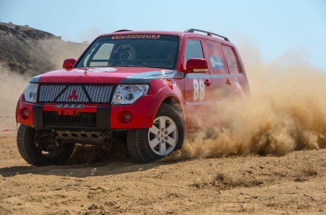 O Mitsubishi Pajero de Pedro Jesus e Carlos Couto assegurou o terceiro posto final, depois de ter sido sempre uma sombra a Isuzu de Maló...