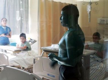 Beto Hulk en el Hospital Civil