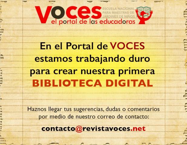 Biblioteca Digital ENMJN revistavoces.net el portal de las educadoras