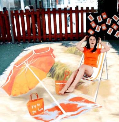 Publicidad en Pinturas 3D - Publicidad EasyJet