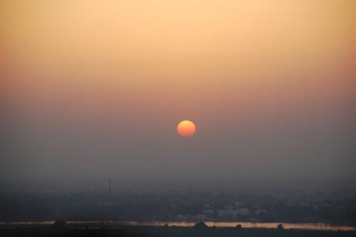 Amanecer en Egipto