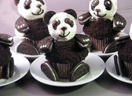 Cupcakes Oreo Panda