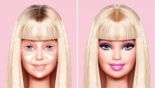 Barbie sin maquillar