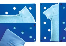 Inventos para doblar ropa facilmente.