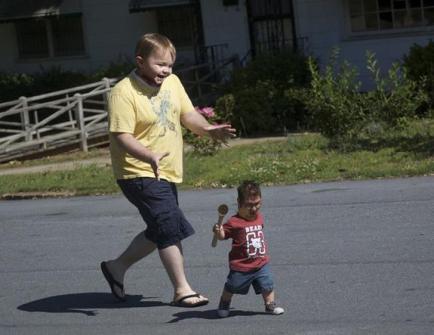 Montajes fotográficos - Padre con hijo