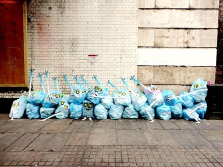 """Arte Urbano - Francisco de Pájaro """"El Arte es Basura"""""""