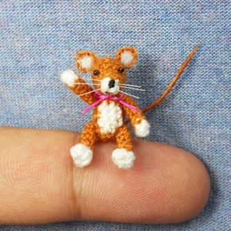 Amigurumi miniaturas - Ratón