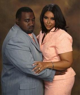 Kim Kardashiam y Kanye West sin tanto glamour