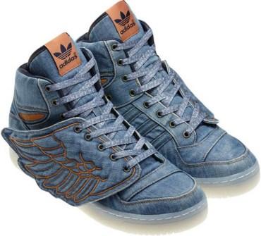 Jeremy Scott - Adidas con Alas en vaquero