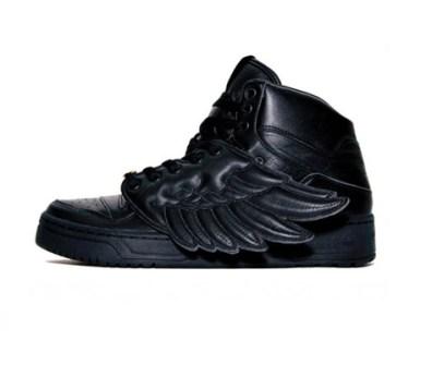 Jeremy Scott - Adidas con Alas en charol negro