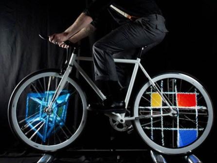 Luces LED con animación para Bicicletas