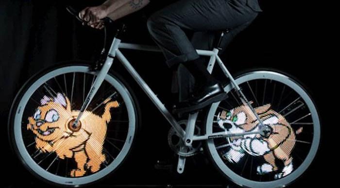 Luces LED con Mensajes e Imágenes Animadas para tu Bici.
