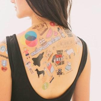 Tatuajes temporales divertidos