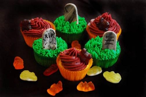 Cupcakes para Halloween RIP