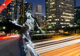 ¿Algunas vez has imaginado un Esqueleto Patinando?