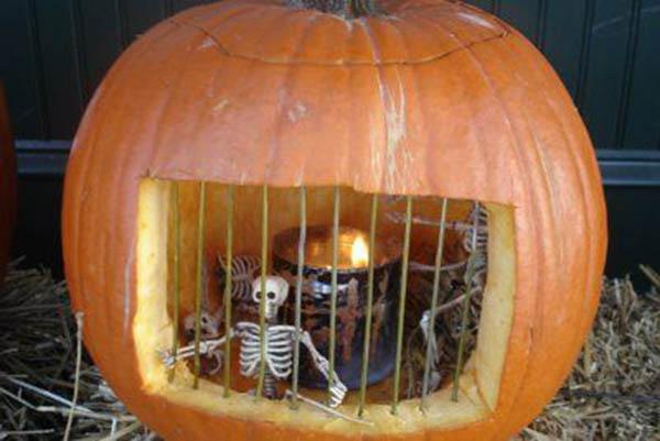 P salo de miedo con estas ideas para halloween - Calabazas decoradas ...