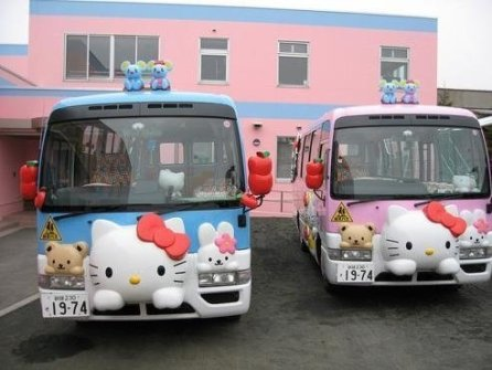 Autobuses Escolares en Japón- Hello Kitty