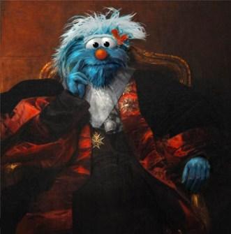 Personajes de Barrio Sésamo en Obras de Arte - Tricky como Marqués de Pastoret