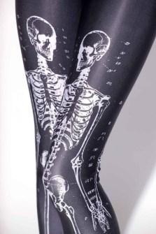 Medias con esqueletos para Halloween
