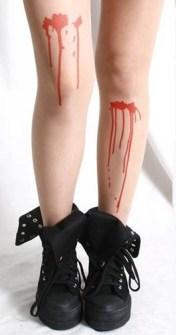 Medias para Halloween con sangre