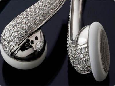Auriculares  con Cristales de Swarovski