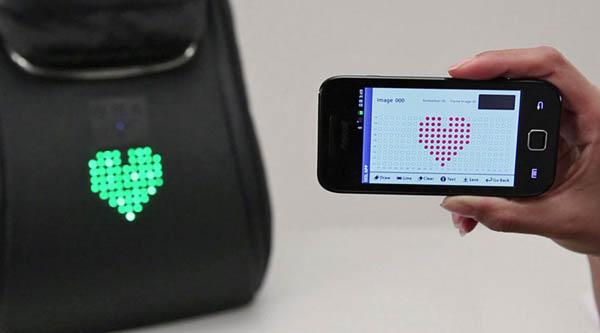 Mochilas LED para Ciclistas con Mensajes Personalizados