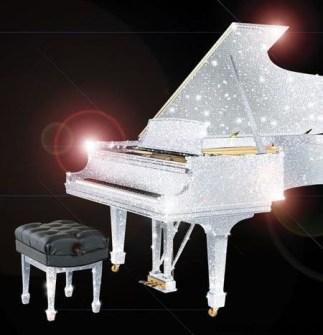 Piano de cola  con Cristales de Swarovski
