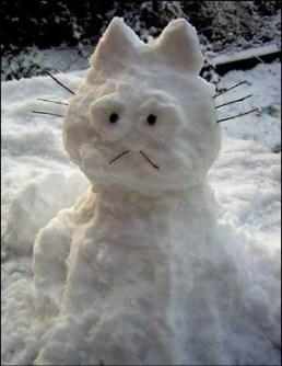 Muñecos de Nieve Divertidos y Originales - Garfield