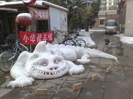 Muñecos de Nieve Divertidos y Originales - Dragón