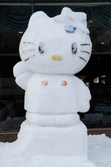 Muñecos de Nieve Divertidos y Originales - Hello Kitty