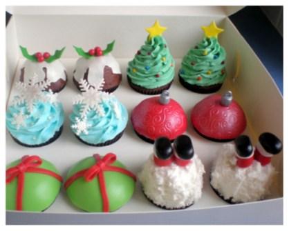 Magdalenas decoradas para Navidad - Christmas cupcakes