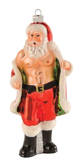 10 Adornos de Navidad que destruirán tu Espíritu Navideño - Santa Claus con abdominales