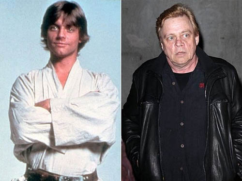 Luck Skywalker antes y ahora