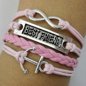 Pulseras de Tendencia - Pulseras infinito Best Friends Forever