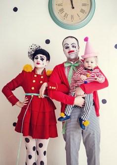 Disfraces Fáciles y Originales para Carnaval - Familia de Payasos Hipsters