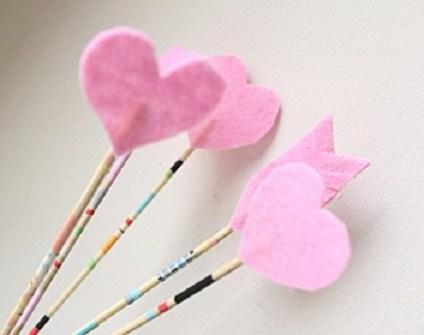 Detalles Geniales para San Valentín - Flechas de Cupido DIY con palillos de brocheta