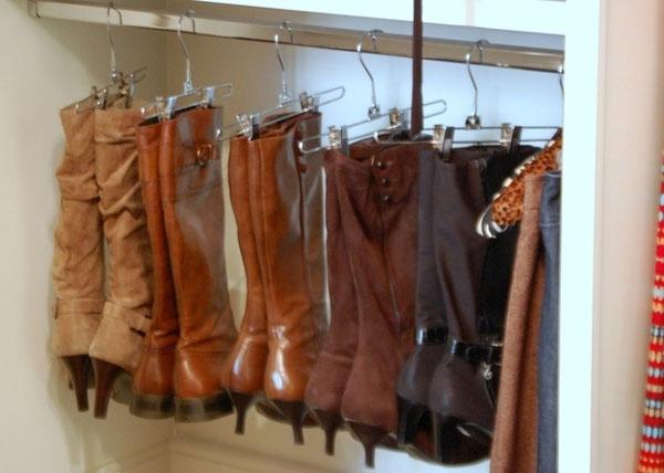 Trucos Caseros - Cómo guardar las botas altas